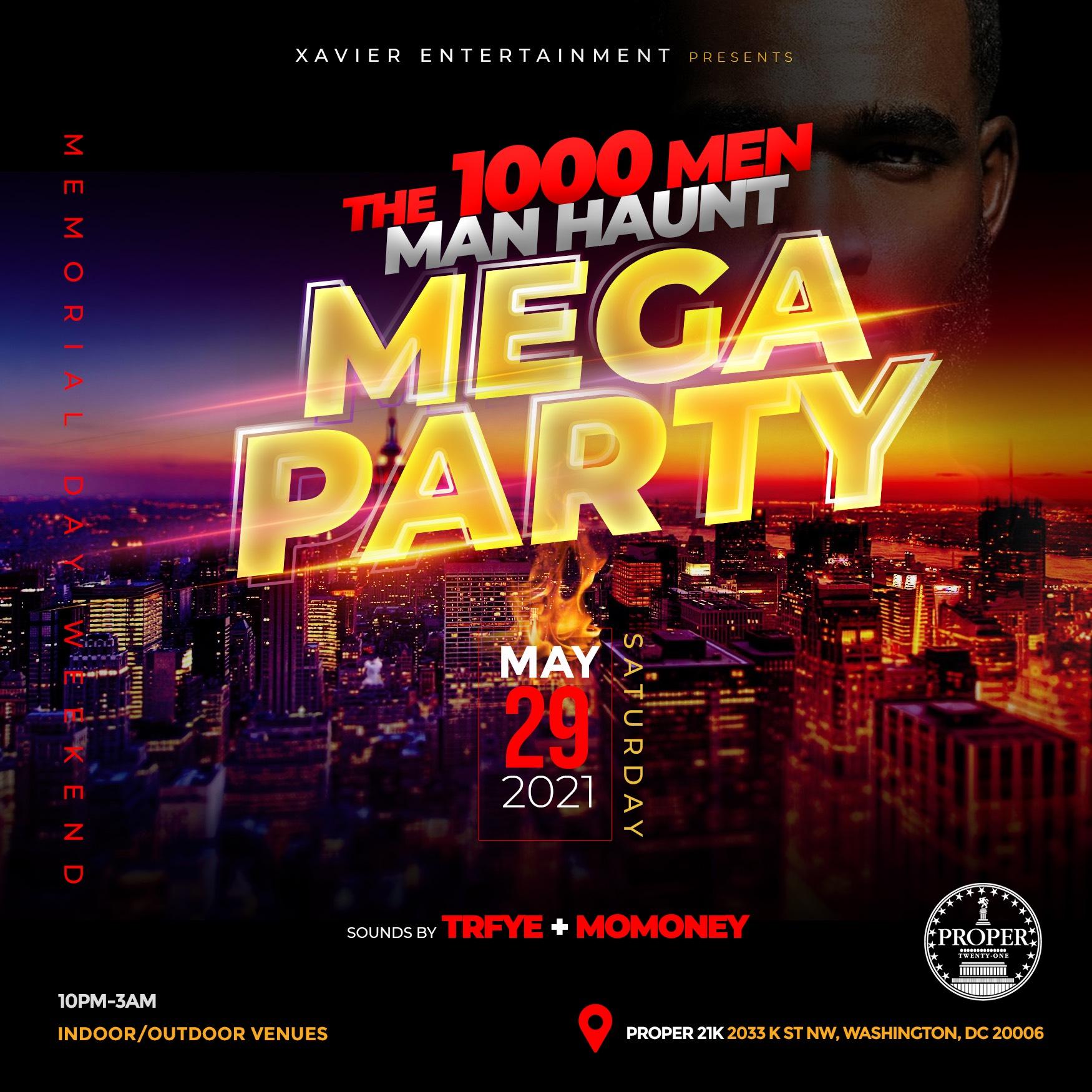 1,000 Men Manhunt Mega Party