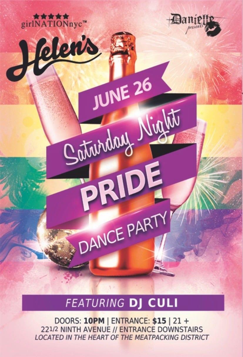 Saturday Night Pride Dance Party
