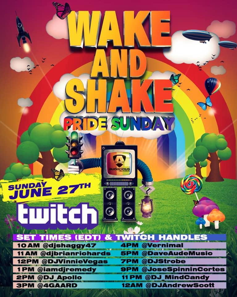 Wake & Shake Pride Sunday