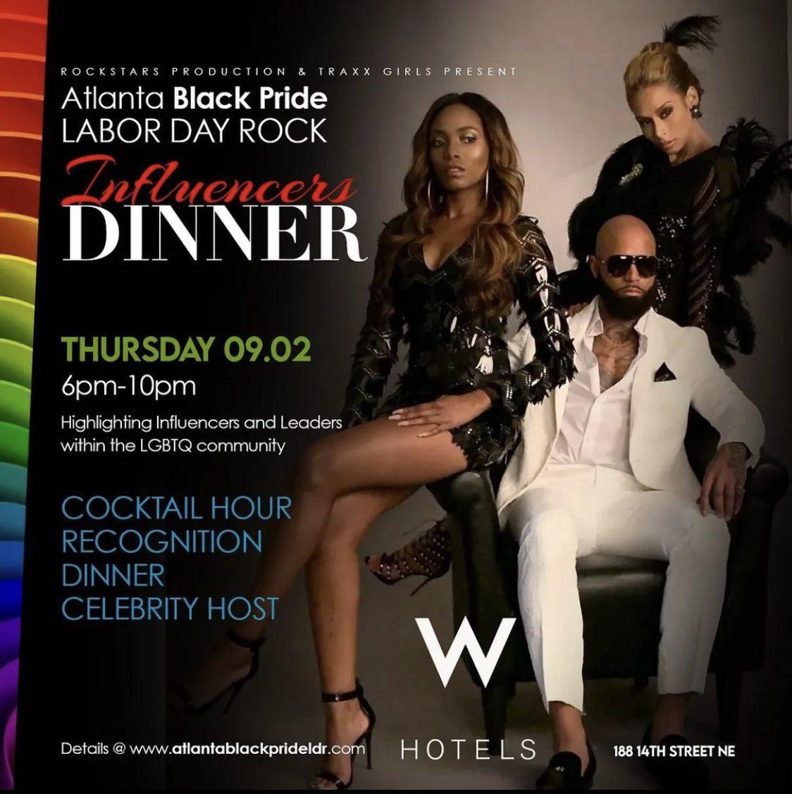 Atlanta Black Pride Labor Day Rock: Influencers Dinner