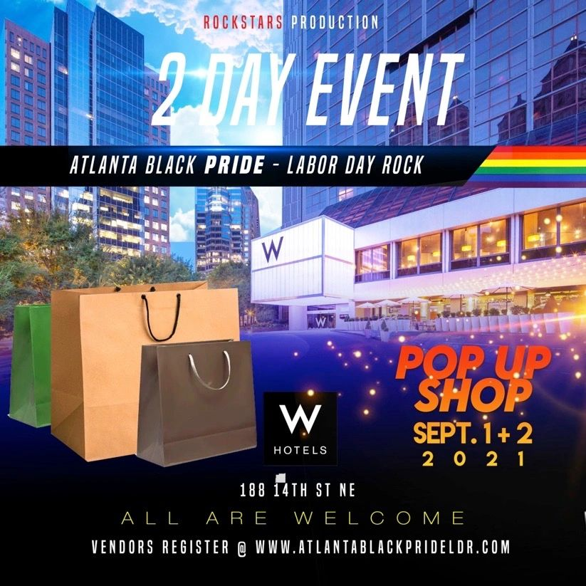 Atlanta Black Pride Labor Day Rock: Pop Up Shop