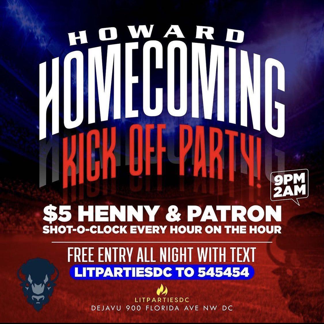 Howard Homecoming Kick Off Party